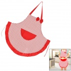 T12311 Cute Polka Dot Pattern + Bow Kitchen Cooking Canvas Apron - Red + White