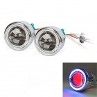 "ZT01 2.5"" 35W 3000lm 4300K HID Angle Eyes Projector Lens Car Xenon Light - Silver (Pairs)"