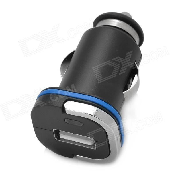 1.5A USB Mini Car Power Charger / Adapter for Cellphone + More - Black (DC 12~24V)