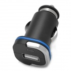 1.5A USB Mini Car Power Charger / Adapter für Handy + More - Schwarz (DC 12 ~ 24V)