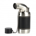 Honest 516 Windproof Butane Jet Lighter - Black + Silver