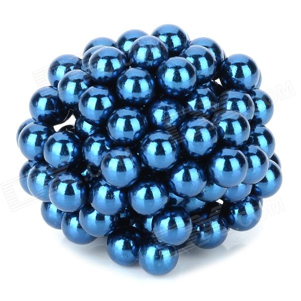 QST-125B N35 NdFeB Magnetic Magic Beads - Water Blue (125 PCS / 5mm) diy 5mm buckyballs ndfeb magnetic magic beads deep grey 125 pcs