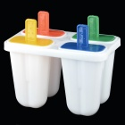 DIY Plastic Popsicle Mold Set - White