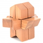 Rocket Style Lock Puzzle Wooden Building Block Intelligence Toy