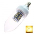 GCD 25  E14 3W 200lm 3500K 48-SMD 3528 LED Warm White Light Lamp Bulb - White (220-240V)