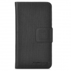 Stylish Protectiver PU Leather Case for iPhone 5 / Samsung i9300 - Black