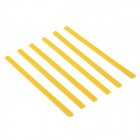 Long Magnetic Stripes for White Board - Yellow (20cm / 6 PCS)