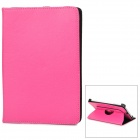360 Degrees Rotation Protective PU Leather Flip-Open Case for iPad Mini - Deep Pink