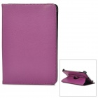 360 Degrees Rotation Protective PU Leather Flip-Open Case for iPad Mini - Purple
