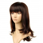 8065 Fashionable Tilted Bang Long Curly High-temperature Resistant Fiber Hair Wig - Blackish Red