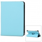 360 Degrees Rotation Protective PU Leather Flip-Open Case for iPad Mini - Light Blue
