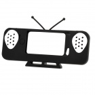 Cute Old TV Style Amplifier Speaker Stand for iPhone 5 - Black