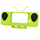 Cute Old TV Style Amplifier Speaker Stand for Iphone 5 - Green