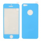 Protective Dekoration PET Front & Back-Aufkleber für iPhone 5 - Blau