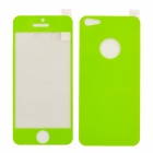 Protective Front Screen Sticker + Back Sticker Set for iPhone 5 - Green