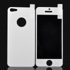 Fashionable Protective PET Front + Back Sticker for iPhone 5 - White