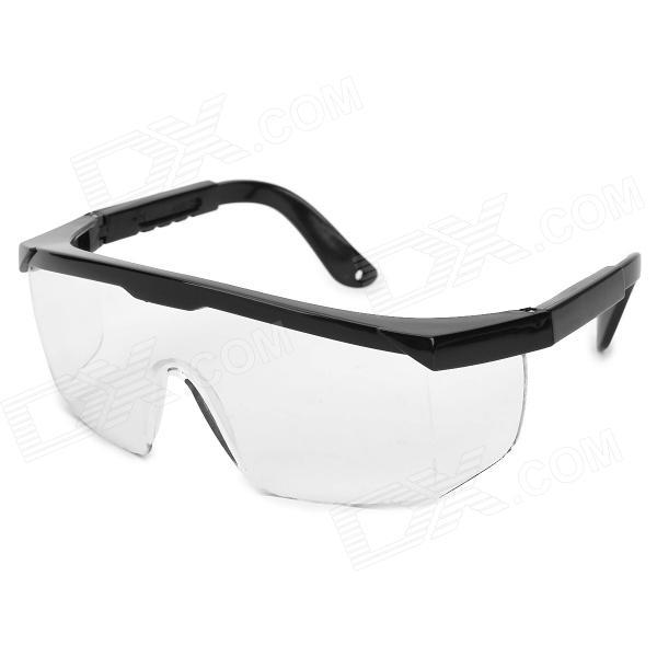 Motorcycle UV400 Protection PC Lens Goggles - Black + Transparent