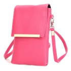 Stylish PU Shoulder Bag for Iphone / Samsung / HTC / Sony - Deep Pink