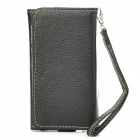 Stylish Protective PU Leather Bag Case for Samsung i9300 / i9500 / Iphone 4 / 4S / 5 - Black