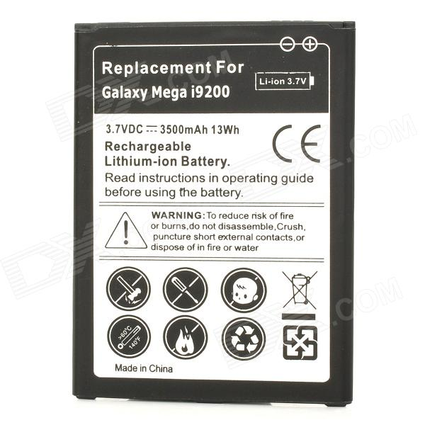 Replacement 3.7V 3500mAh Li-ion Battery for Samsung Galaxy Mega i9200 - Black + White replacement dual core 1600mah li ion battery for samsung galaxy ace s5830 2 pcs