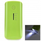 "Portable ""5200mAh"" External Battery Charger Mobile Power Bank - Green"
