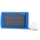 "Dual USB Solar-Powered ""10.000 mAh"" External Battery Charger w / Blau Indikatoren - Blau"
