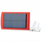 "Dual USB Solar-Powered ""10.000 mAh"" External Battery Charger w / Blau Indikatoren - Red"