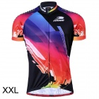 RUSUOO R10002 Outdoor Cycling Men's Short-Sleeved Jersey Clothes - Multicolored (Size XXL)