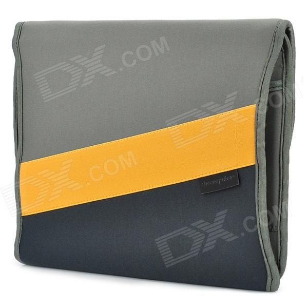 Thecoopidea Big Spam Multi-Pockets Tablet PC Neoprene Storage Bag - Grey + Yellow dunlop winter maxx wm01 175 65 r14 82t