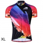 RUSUOO R10002 Outdoor Cycling Men's Short-Sleeved Jersey Clothes - Multicolored (Size XL)