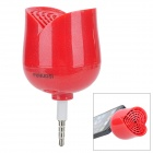 Creative Rose Style Mini Speaker for Iphone 4 / 4S / 5 - Red (3.5mm Plug)