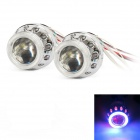 "ZT03 2.5"" 3000LM 4300K HID Angle Eyes Projector Lens Car Xenon Light - Silver (Pairs)"
