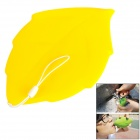 Creative Soft Silicone Leaf Shape Travel Pocket Cup - Yellow
