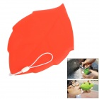 Creative Soft Silicone Leaf Shape Travel Pocket Cup - Red