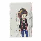 Girl Pattern Protective PU Leather Case for IpadMini - Multicolored