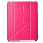 Protective PU Leather Folding Case for Ipad 3 / 4 - Deep Pink