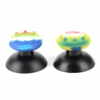 PS3  /PS2 Game Controller Rocker Cap + Non-slip Silicone Cover Set - Black + Rainbow