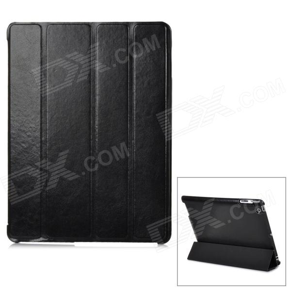 Protective 4-Section Folding PU Leather Case for Ipad 3/4 - Black
