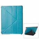 Protective PU Leather Folding Case for Ipad 3 / 4 - Blue
