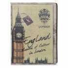Fashion London Big Ben Pattern PU Leather Case for Ipad 2 / 3 / 4 - Green