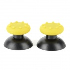 PS3  /PS2 Game Controller Rocker Cap + Non-slip Silicone Cover Set - Black + Yellow