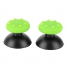 Replacement Joystick Caps + Silicone Pad Set for PS3 / PS2 Controller - Green + Black (2 PCS)