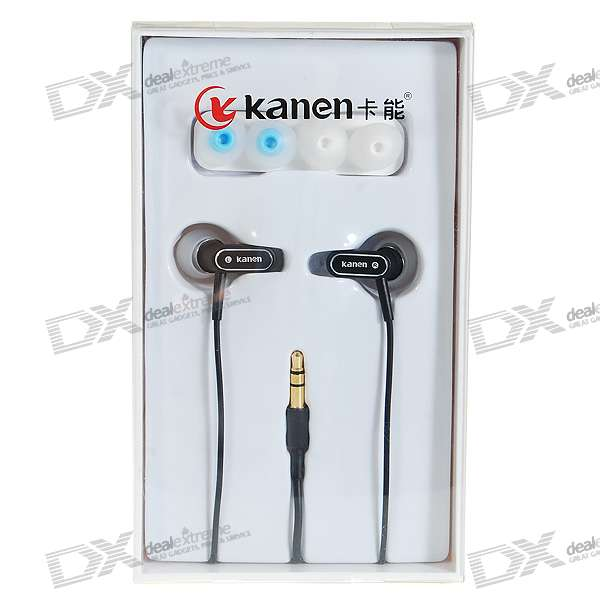 Kanen KM-948 Noise Isolation In-Ear Earphone (3.5mm Jack/120cm Cable)