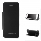 5V 2500mAh Li-ion Polymer Battery Power Bank Case w/ Stand for iPhone 5 - Black