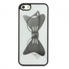 Dynamic 3D Glass Tie Back Case for Iphone 5 - Black + White