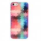 Stylish Puzzle Pattern Protective Plastic Hard Back Case for Iphone 5 - Multicolored