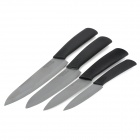 "BECONN B204567B 4-in-1 4"" + 5"" + 6"" + 7"" Kitchen Chef Ceramic Knives Set - Black"