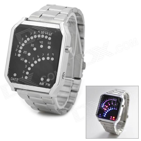 Stylish Creative LED Wrist Watch - Silver (2 x CR2016)