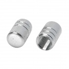 MZ Tubular Shaped Aluminium Alloy Tire Valve Caps - Silver (4PCS)