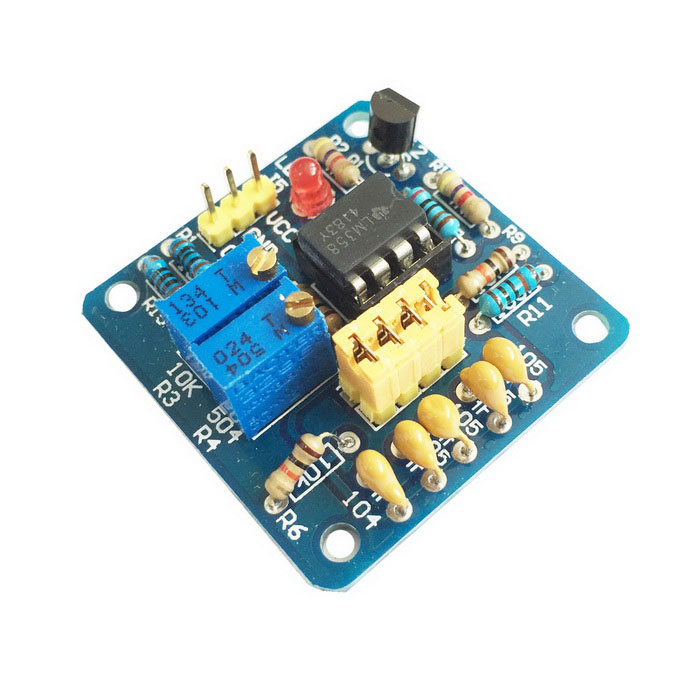 LM358 Pulse Module - Blue (5~12V) kdx 01 low frequency square wave signal source frequency signal generator of adjustable duty ratio instead of ne555